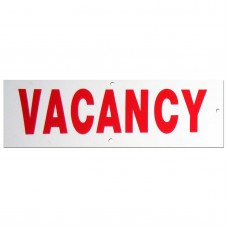 Vacancy Policy Business Sign
