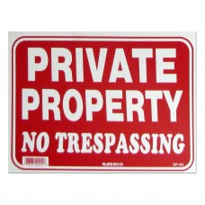 Private Property No Trespassing Policy Business Sign