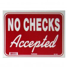 No Checks Accepted Policy Business Sign