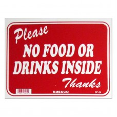 Please-No Food Or Drink Policy Business Sign