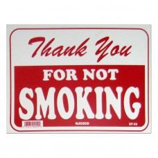 Thank You For Not Smoking Policy Business Sign