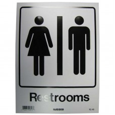 Restrooms Policy Business Sign