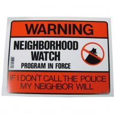 Neighborhood Watch Program Policy Business Sign