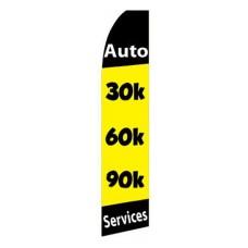30K 60K 90K Yellow Swooper Flag