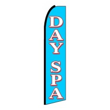 Day Spa Extra Wide Swooper Flag