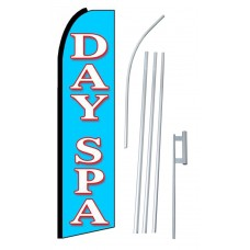 Day Spa Extra Wide Swooper Flag Bundle