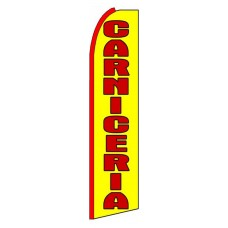 Carniceria(Meat Shop) Yellow Extra Wide Swooper Flag