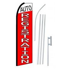 Auto Registration Extra Wide Swooper Flag Bundle