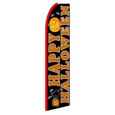 Happy Halloween Extra Wide Swooper Flag