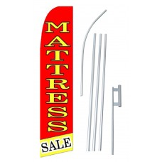 Mattress Sale Yellow Red Extra Wide Swooper Flag Bundle