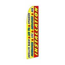 All Auto Electronics Installation Extra Wide Swooper Flag