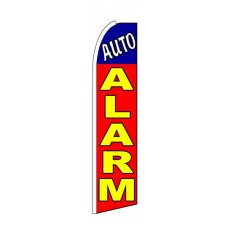 Auto Alarm Red Yellow Blue Extra Wide Swooper Flag