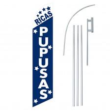 Ricas Pupusas Windless Swooper Flag Bundle