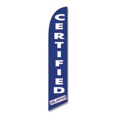 Certified Pre-Owned Blue Super Swooper Flag