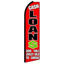 Cash Loans Extra Wide Swooper Flag