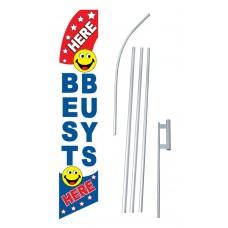 Best Buys Smiley Face Swooper Flag Bundle