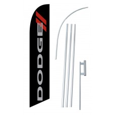 Dodge Black Windless Swooper Flag Bundle