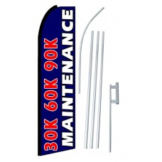 30K 60K 90K Maintenance Extra Wide Swooper Flag Bundle