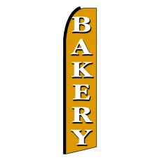 Bakery White/Gold Extra Wide Swooper Flag