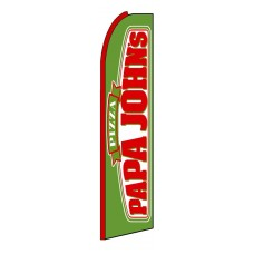 Papa John's Red Sleeve Extra Wide Swooper Flag