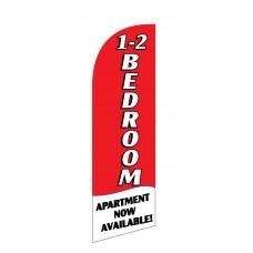 1-2 Bedroom Apartment Red/White Junior Swooper Flag