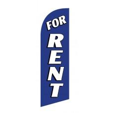 For Rent White/Blue Junior Swooper Flag