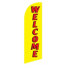Welcome Red/Yellow Junior Swooper Flag
