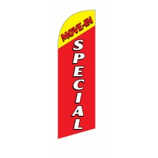 Move In Special Yellow Top Junior Swooper Flag