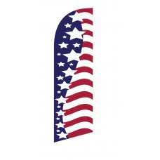 USA Stars/Stripes Side by Side Junior Swooper Flag