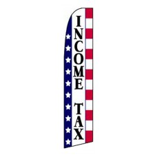 Income Tax Stars & Stripes Extra Wide Swooper Flag