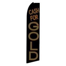 Cash For Gold Black/Brown Extra Wide Swooper Flag