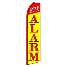 Auto Alarm Red Yellow Extra Wide Swooper Flag