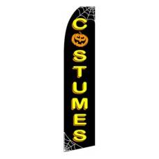 Costumes Halloween Black/Yellow Swooper Flag