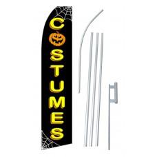 Costumes Halloween Black/Yellow Swooper Flag Bundle