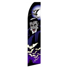 Halloween Vampire Purple Swooper Flag