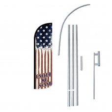 United We Stand Extra Wide Windless Swooper Flag Bundle