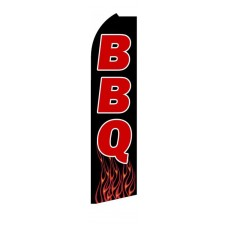 BBQ Extra Wide Swooper Flag