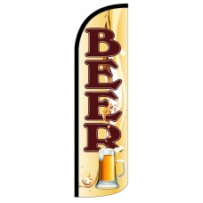 Beer Mug Extra Wide Windless Swooper Flag