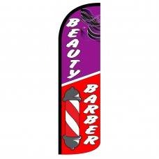 Beauty/Barber Extra Wide Windless Swooper Flag