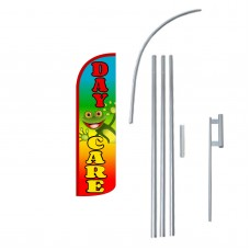 Day Care Extra Wide Windless Swooper Flag Bundle