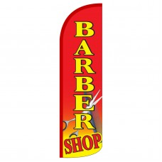 Barber Shop Red Extra Wide Windless Swooper Flag