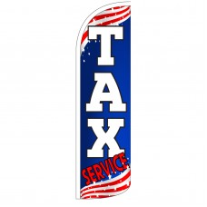 Tax Service Extra Wide Windless Swooper Flag
