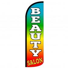 Beauty Salon Extra Wide Windless Swooper Flag