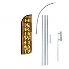 Hardwood Extra Wide Windless Swooper Flag Bundle