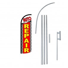 Auto Repair Extra Wide Windless Swooper Flag Bundle