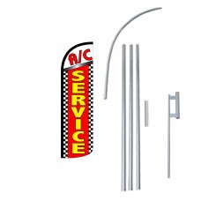 AC Service Extra Wide Windless Swooper Flag Bundle