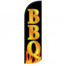 BBQ Extra Wide Windless Swooper Flag