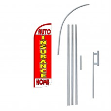 Insurance Auto/Home Extra Wide Windless Swooper Flag Bundle