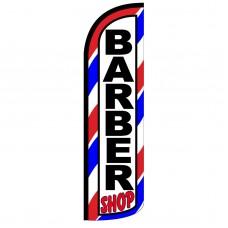 Barber Shop Extra Wide Windless Swooper Flag