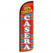 100% Comida Casera Extra Wide Windless Swooper Flag
